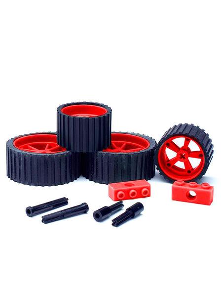 MEEPER - meeperBOT 2.0 Wheel Pack Brick Red
