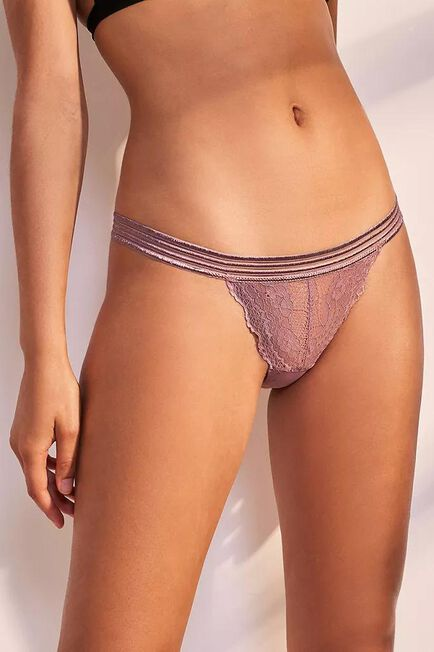 Urban Outfitters - ROSE Out From Under Arianna Lace Thong