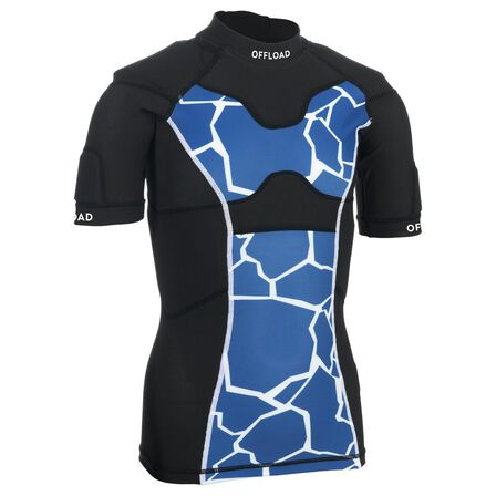 OFFLOAD - 6-7Y  100 Junior Rugby Shoulder Pads, Electric Blue