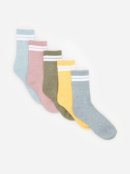 Reserved - Melange socks 5 pack - Blue