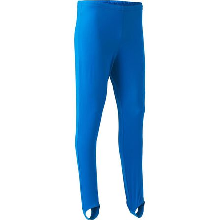 DOMYOS - 8-9Y  Men's Artistic Gymnastics Stirrup Pants, Electric Blue