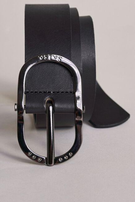 Salsa Jeans - Black Leather belt with Swarovski crystals