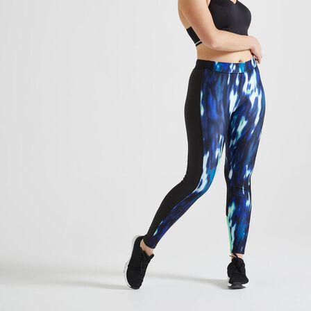 DOMYOS - W30 L31  120 Women's Fitness Cardio Training Leggings, Green