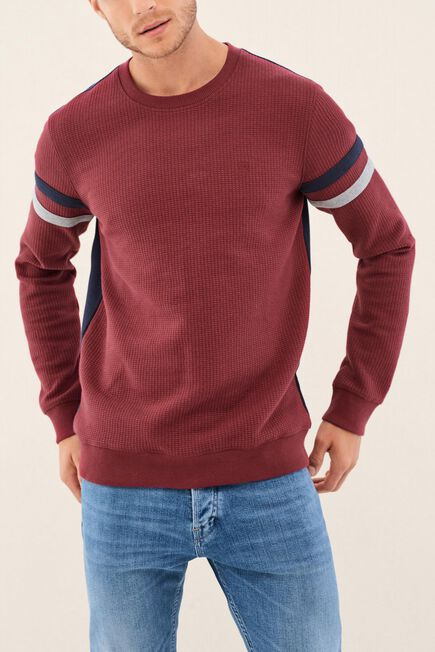 Salsa Jeans - Red Regular Fit Jumpper With Texture