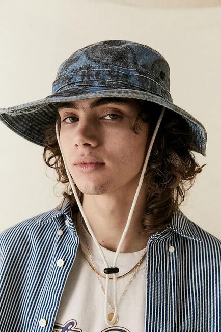 Urban Outfitters - Assorted Blue Denim BDG Paisley Print Hat