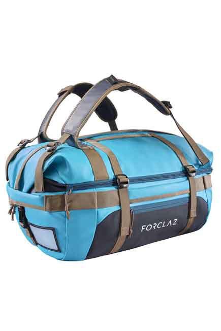 FORCLAZ - Voyage Extend 40 to 60 Litre Mountain Trekking Carry Bag - Blue, 40L