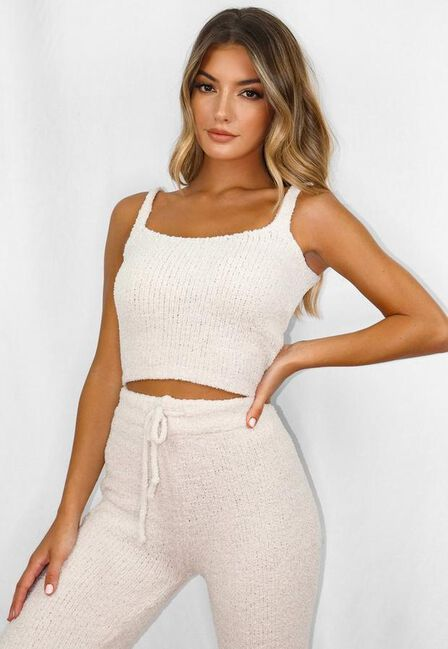 Missguided - Cream Cosy Knit Bralet