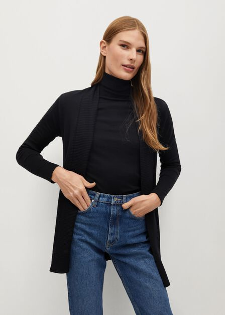 Mango - Black Fine-knit cardigan