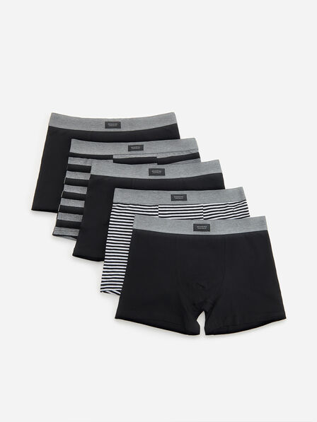 Reserved - Grey Cotton Rich Boxers 5 Pack, Men