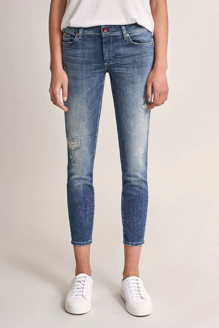 Salsa Jeans - Blue Push Up Wonder cropped jeans with rips