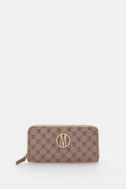 Mohito -  Wallet With Structural Detailing - Beige