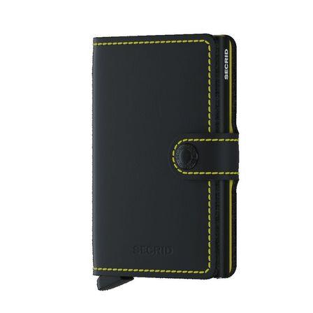 SECRID - Secrid Miniwallet Leather Wallet Matte Black & Yellow