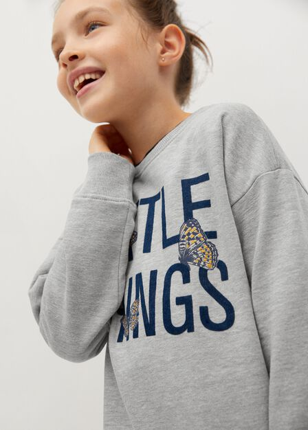 Mango - medium grey Printed organic cotton sweatshirt