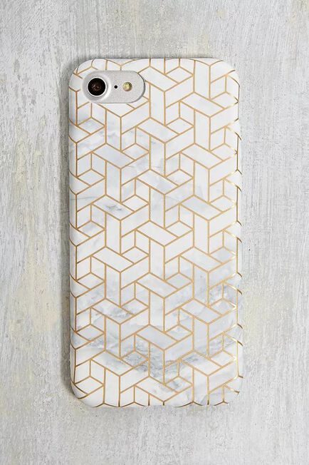 Urban Outfitters - GOLD Gold Geo iPhone 6/7/8 Case