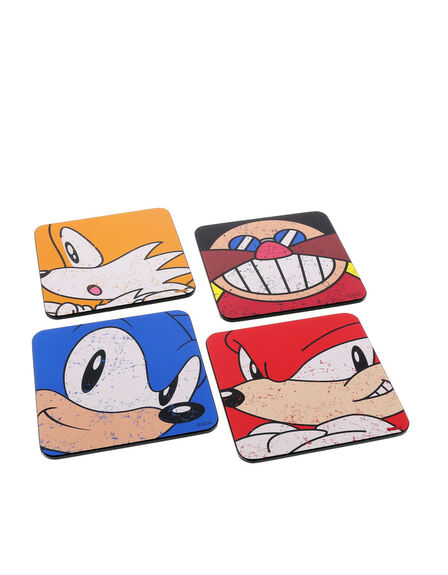 HALF MOON BAY - Sonic the Hedgehog Coasters [Set of 4]