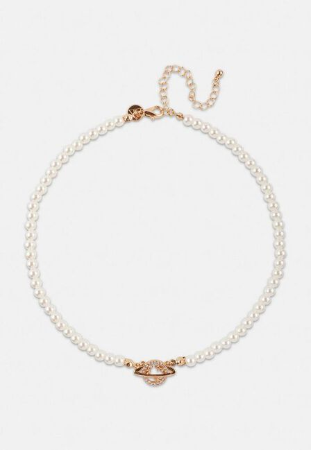 Missguided - Gold Gold Look Orb Mock Pearl Necklace