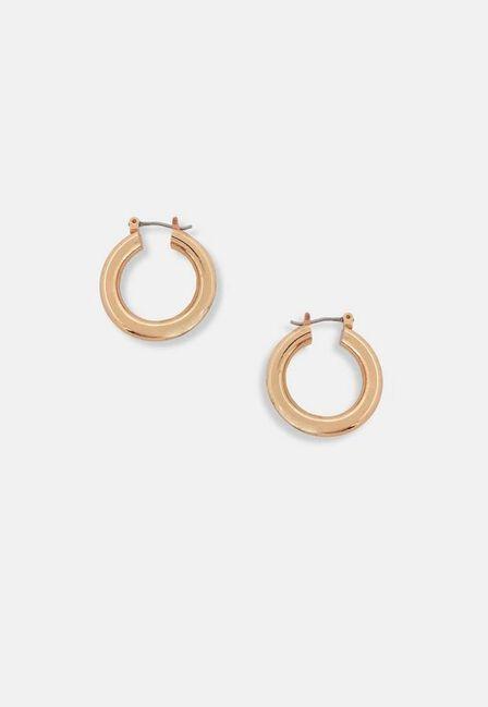 Missguided - Gold Gold Look Chunky Mini Hoop Earrings