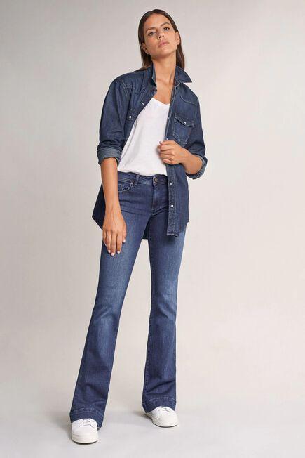 Salsa Jeans - Blue Wonder push up flare jeans in dark denim