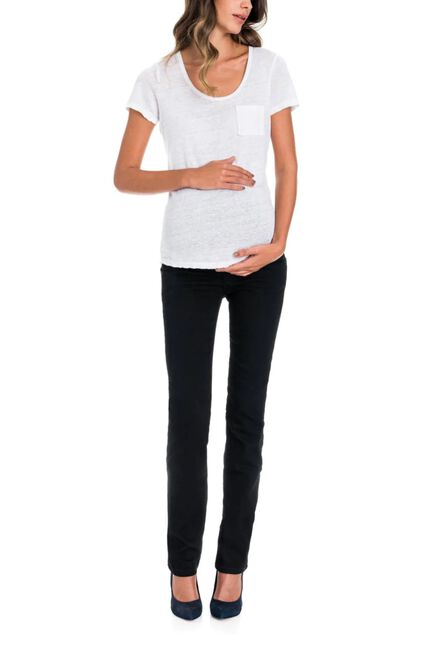 Salsa Jeans - Black Hope capri maternity jeans in true back denim with narrow leg
