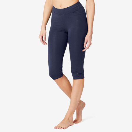 NYAMBA - W30 L31  Cotton Fitness Cropped Bottoms Fit+, Navy Blue