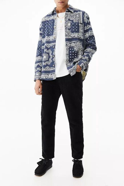 Urban Outfitters - Black BDG Black Corduroy Dad Jeans, Men