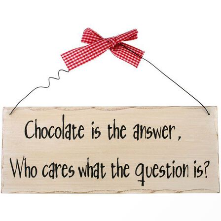 SOMETHING DIFFERENT - Something Different Chocolate Is the Answer Hanging Sign