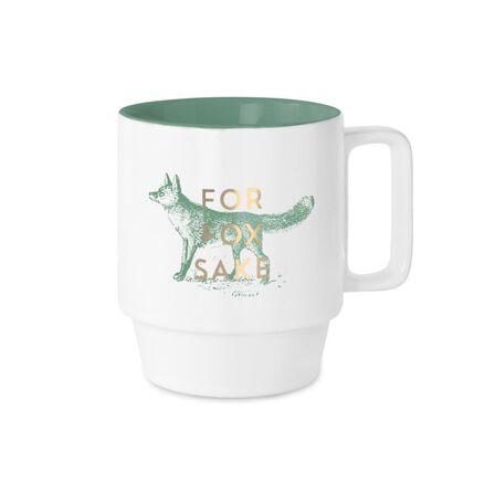 DESIGNWORKS INK - Designworks Stackable Ceramic Mugs For Fox Sake