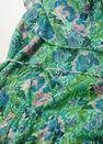 Mango - green Ruffle printed dress, Women