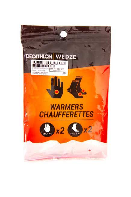 WEDZE - Introductory Set of 2 Hand and 2 Feet Warmers, Unique Size