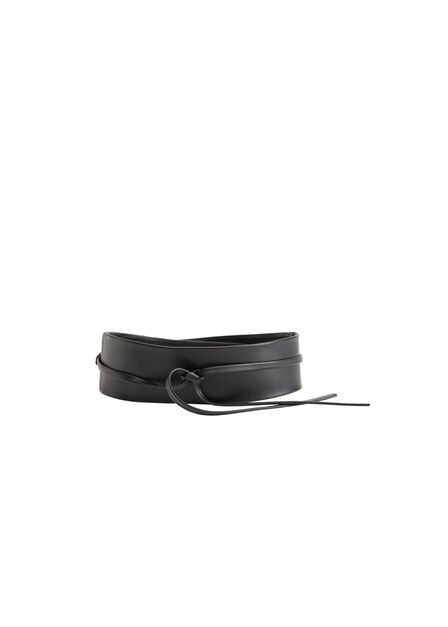 Mango - black Interwoven sash belt