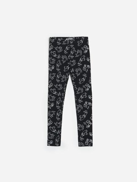 Reserved - Patterned leggings - Black