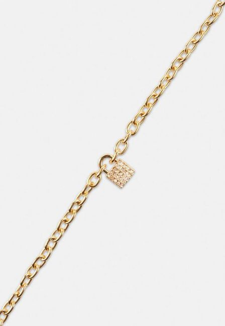 Missguided - Gold Gold Look Pave Padlock Anklet