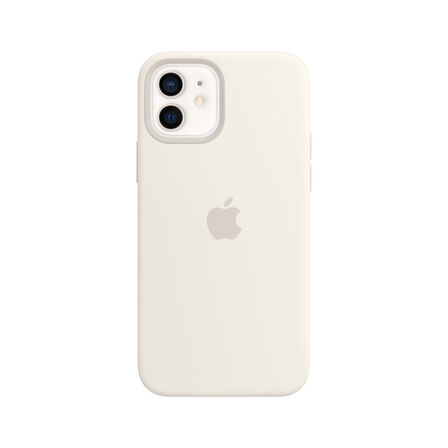 APPLE - Apple Silicone Case White with MagSafe for iPhone 12/Pro