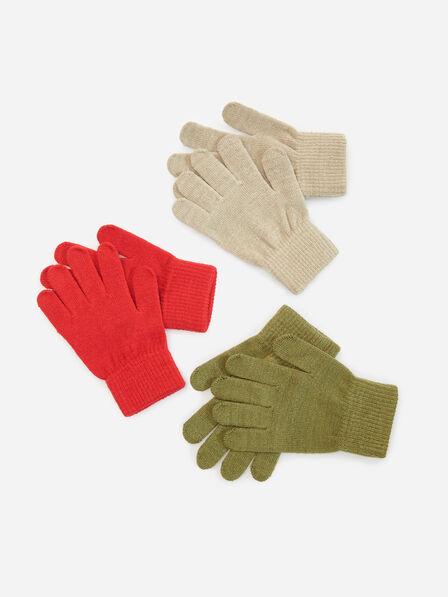 Reserved - Red Gloves 3 Pack, Kids Boy