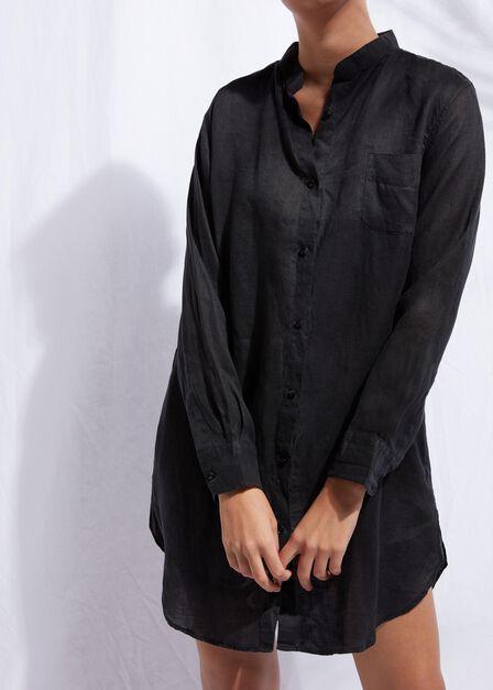 Calzedonia - Black Linen Shirt, Women