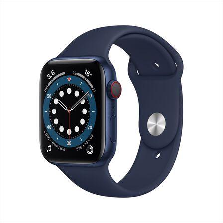 APPLE - Apple Watch Series 6 GPS + Cellular 40mm Blue Aluminium Case with Deep Navy Sport Band