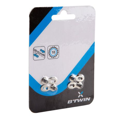 BTWIN - Quick release links for 10-speed chain x2, Unique Size