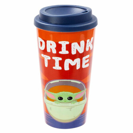 FUNKO TOYS - Funko Star Wars Mandalorian The Child Plastic Lidded Mug Drink Time