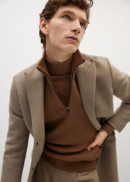 Mango - medium brown 100% merino wool washable sweater