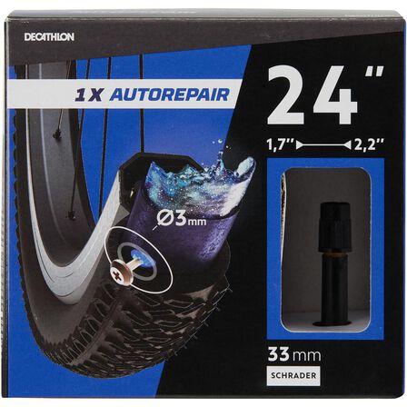 BTWIN - AUTO VALVE  24x1.7-2.2 Self-sealing Bike Inner Tube - Schrader, Default