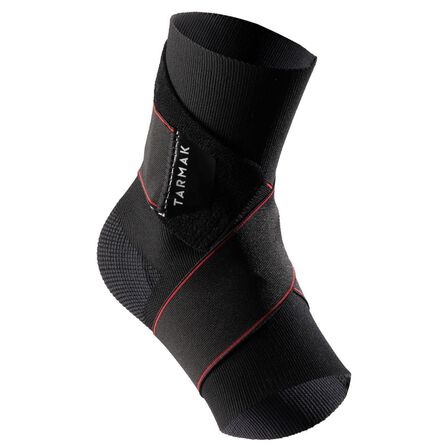 TARMAK - 4  Strong 100 Men's/Women's Right/Left Ankle Ligament Support - Black, Black