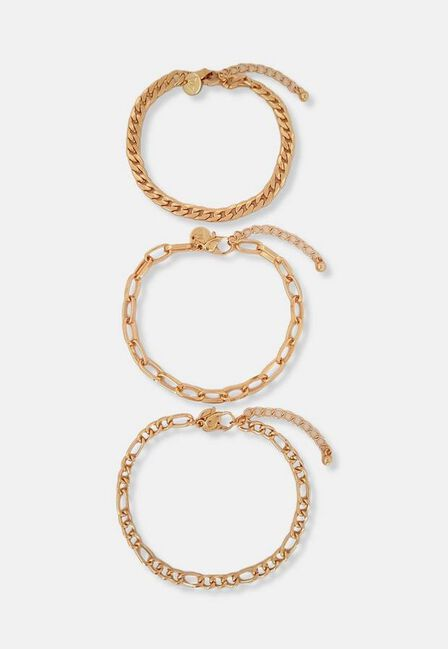 Missguided - Gold Gold Look Chain Anklets 3 Pack
