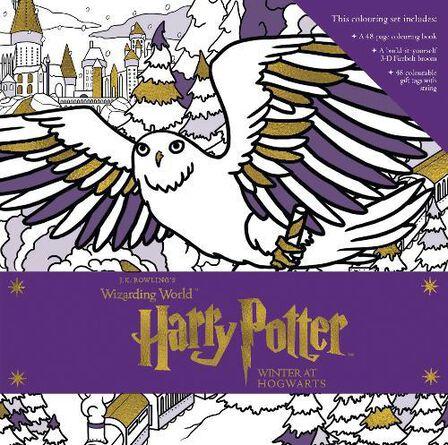 WALKER BOOKS UK - Harry Potter Winter at Hogwarts A Magical Colouring Set
