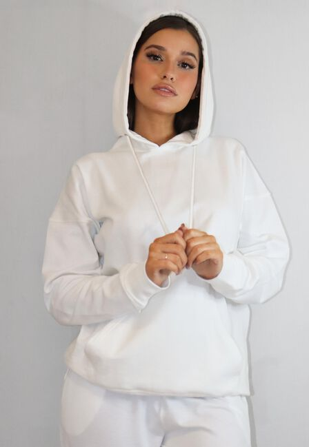 Missguided - White Basic Hoodie