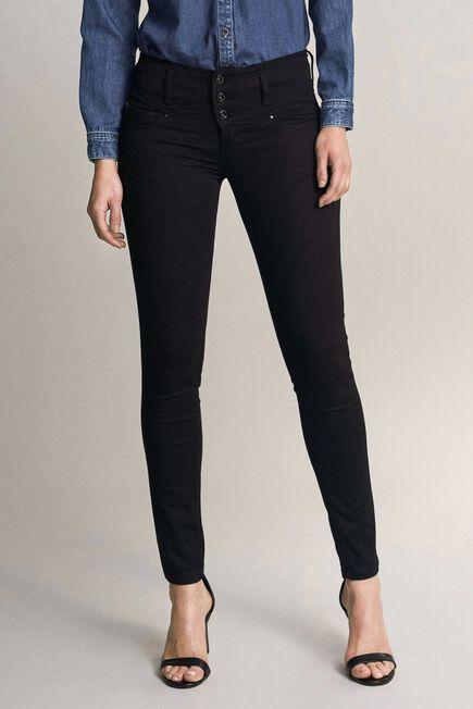 Salsa Jeans - Black Mystery push up skinny true black jeans