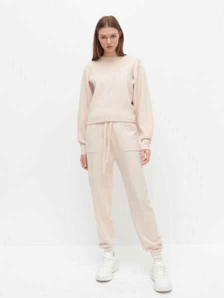 Reserved - Sweater with puffy sleeves - Ivory