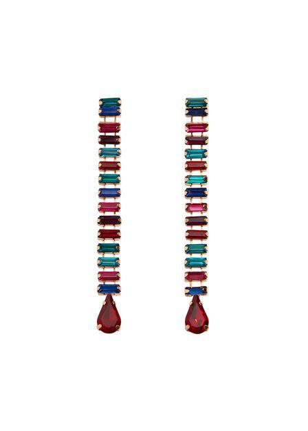 Mango - Gold Pendant crystals earrings