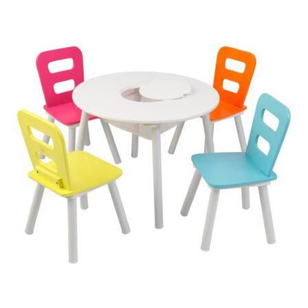 KIDKRAFT - Kidkraft Round Storage Table & 4 Chair Set