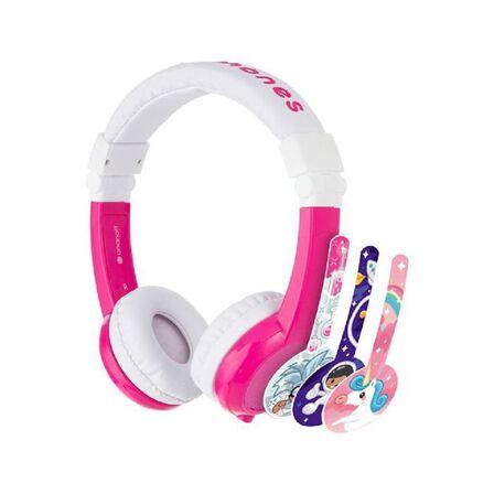 BUDDYPHONES - Buddyphones Unicorn Foldable Headphones with Mic Pink