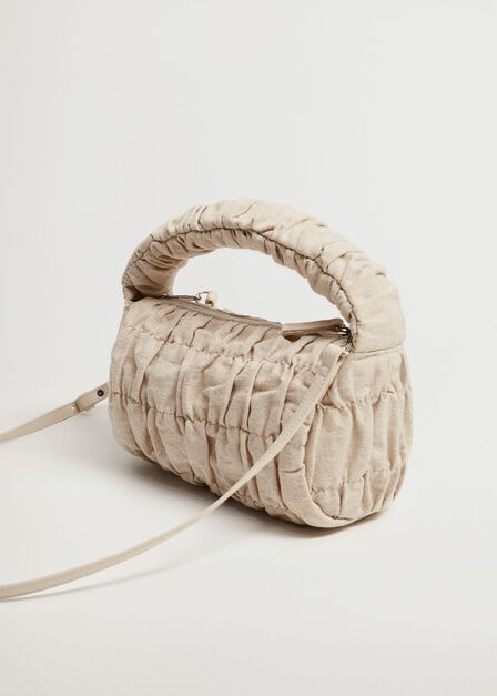 Mango - light beige Bag with ruched detail